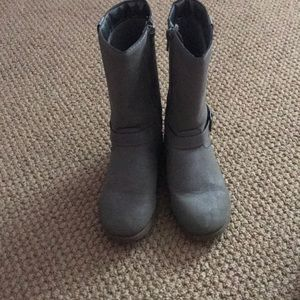 Gray riding style boots!